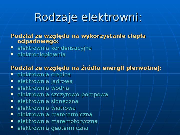 Elektrownie - Slajd 1