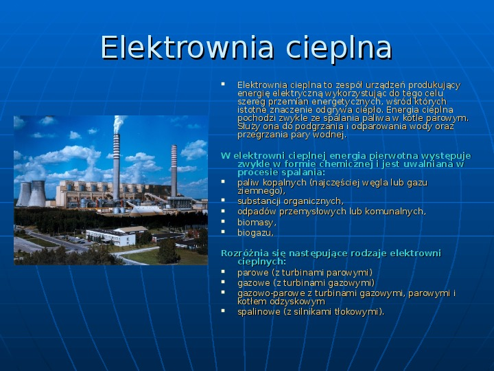 Elektrownie - Slajd 4
