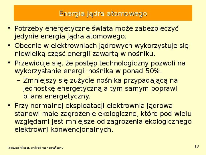 Energetyka jądrowa - Slajd 12