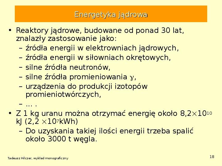Energetyka jądrowa - Slajd 17
