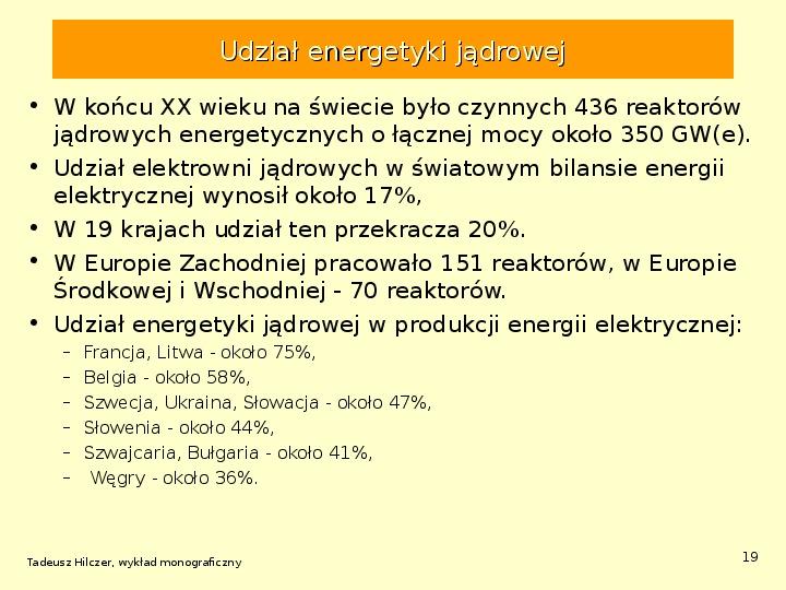 Energetyka jądrowa - Slajd 18