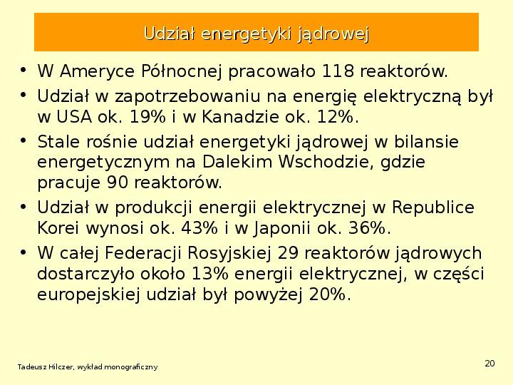 Energetyka jądrowa - Slajd 19