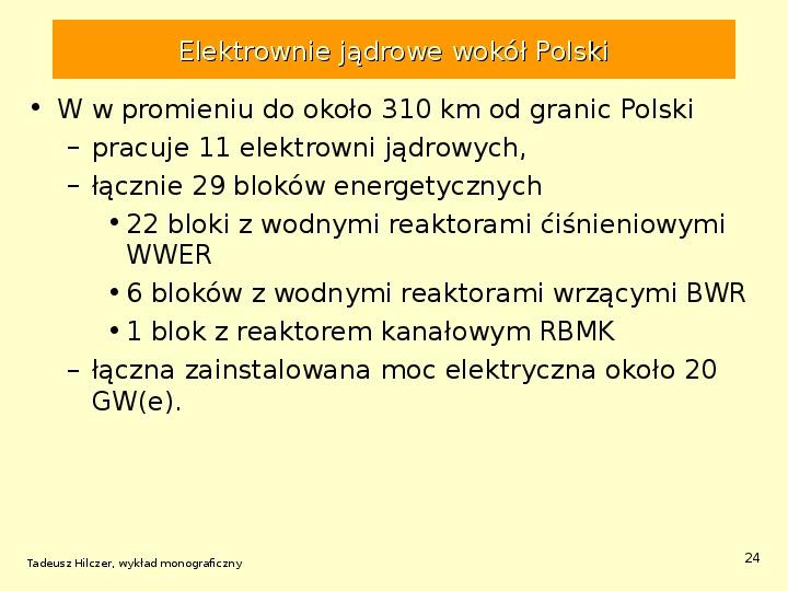 Energetyka jądrowa - Slajd 23