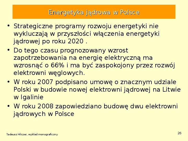 Energetyka jądrowa - Slajd 25