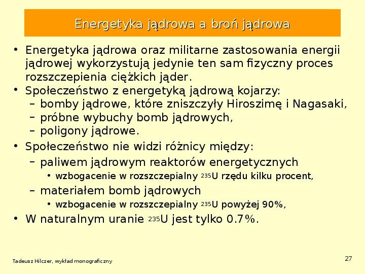 Energetyka jądrowa - Slajd 26