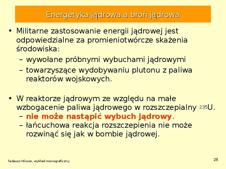 Energetyka jądrowa - Slajd 27