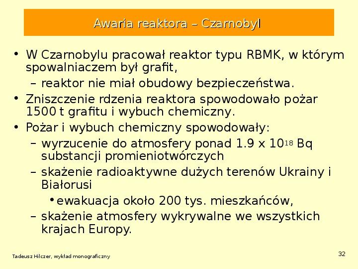 Energetyka jądrowa - Slajd 31