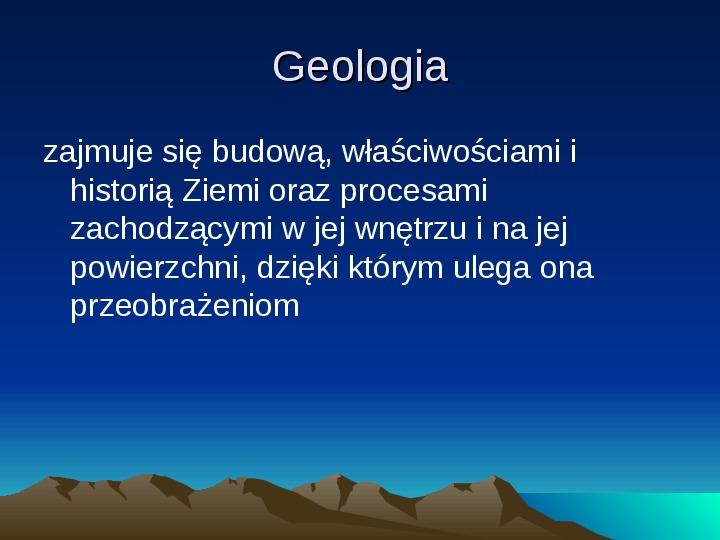Jednostki geochronologiczne - Slajd 1