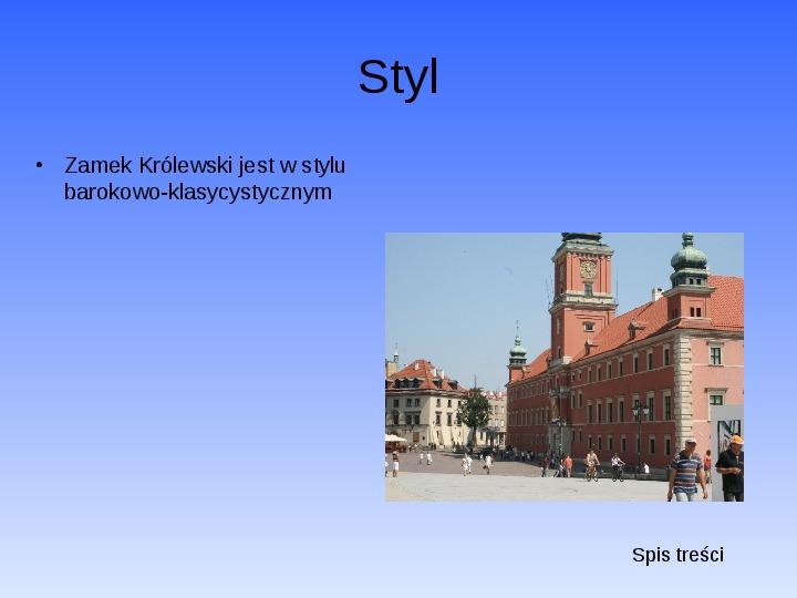 Zabytki Warszawy - Slajd 5