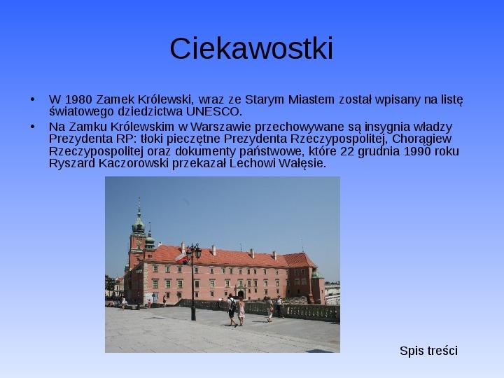 Zabytki Warszawy - Slajd 7