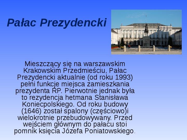Zabytki Warszawy - Slajd 31