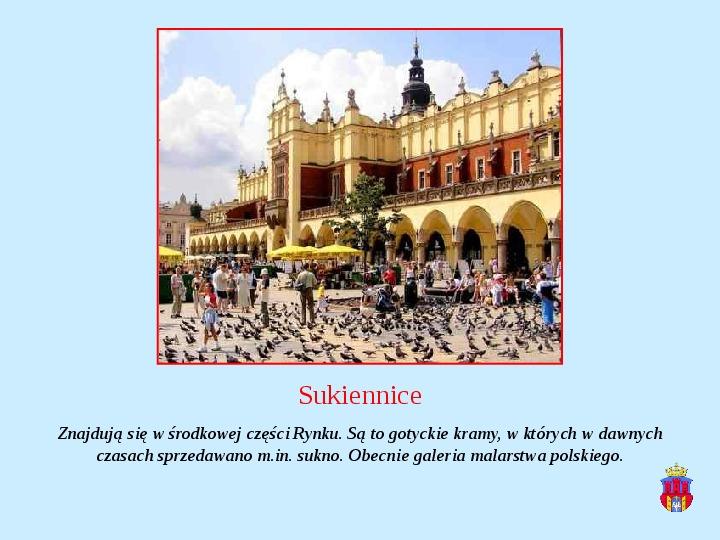 Zabytki Krakowa - Slajd 9