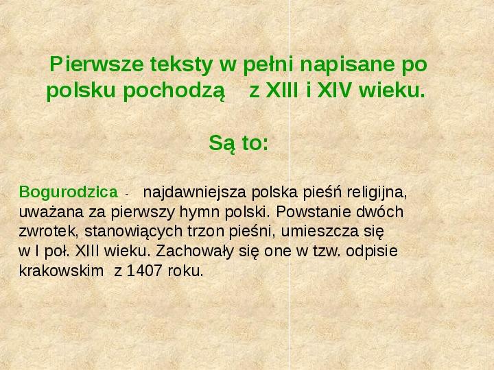 Historia Języka Polskiego - Slajd 7