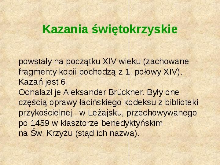 Historia Języka Polskiego - Slajd 9