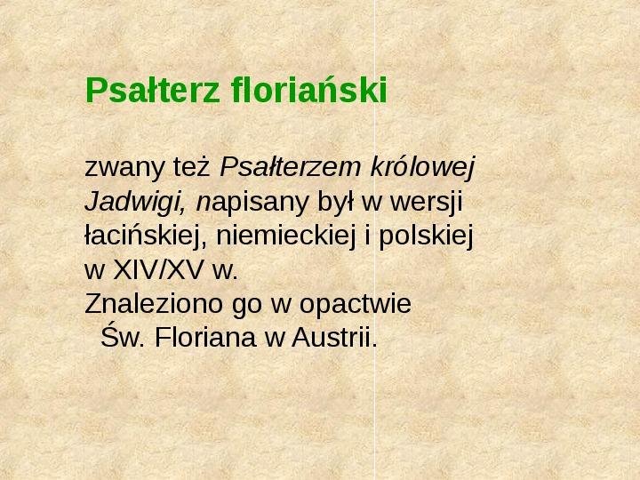 Historia Języka Polskiego - Slajd 11