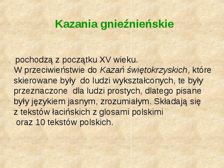 Historia Języka Polskiego - Slajd 12