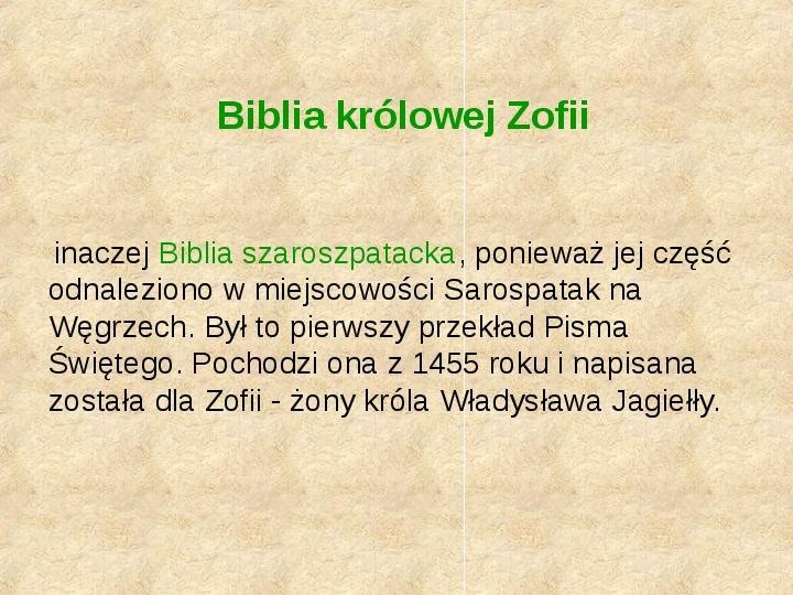 Historia Języka Polskiego - Slajd 14