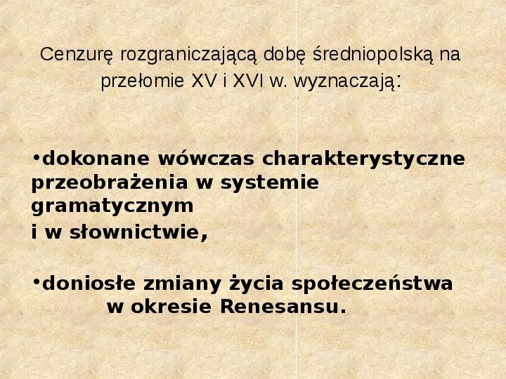 Historia Języka Polskiego - Slajd 17