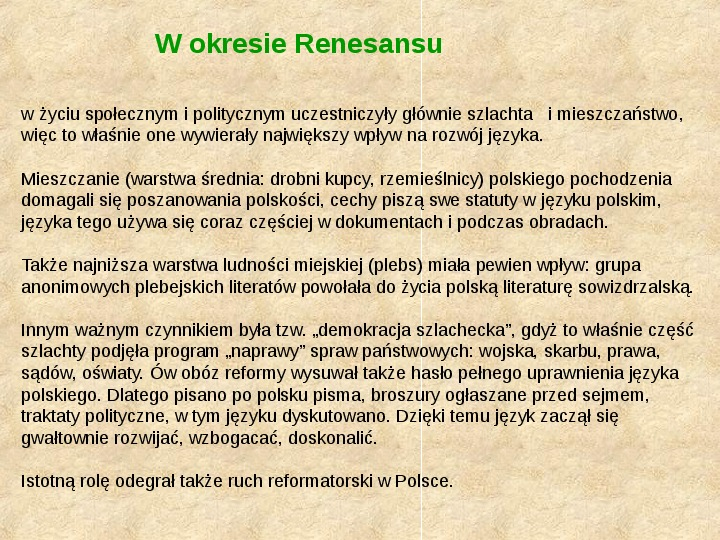 Historia Języka Polskiego - Slajd 18