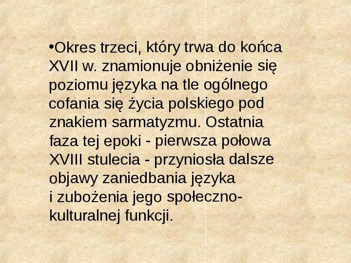 Historia Języka Polskiego - Slajd 36