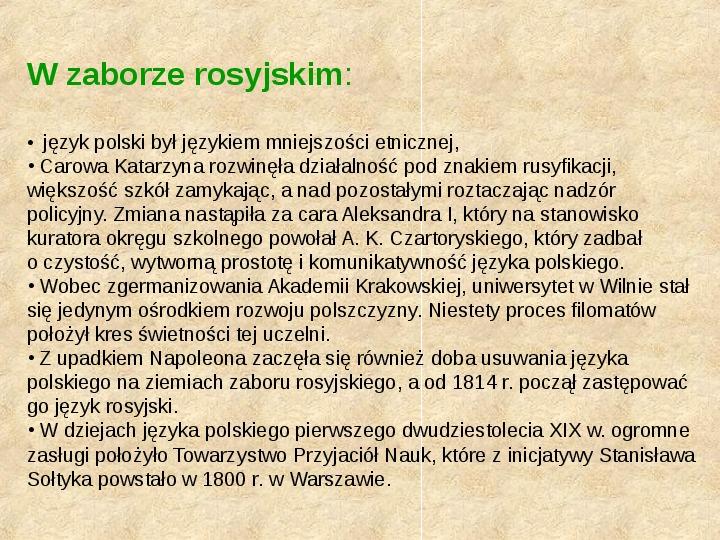 Historia Języka Polskiego - Slajd 41