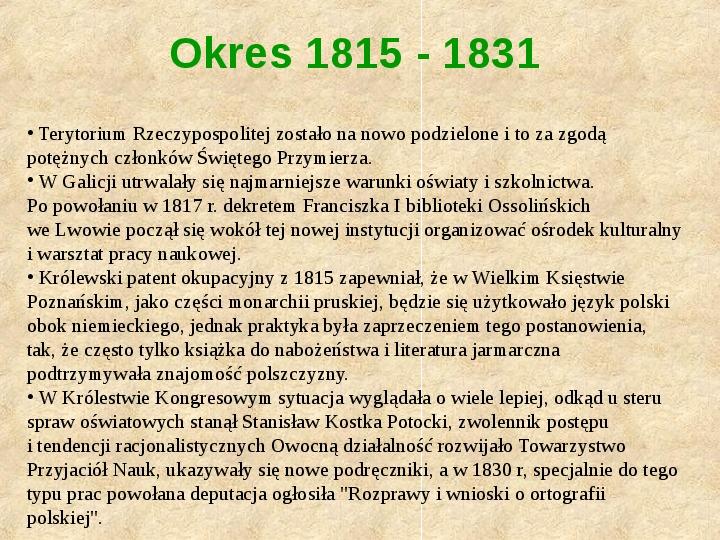 Historia Języka Polskiego - Slajd 42