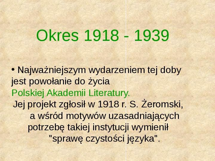 Historia Języka Polskiego - Slajd 45