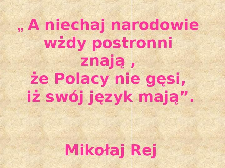 Historia Języka Polskiego - Slajd 47