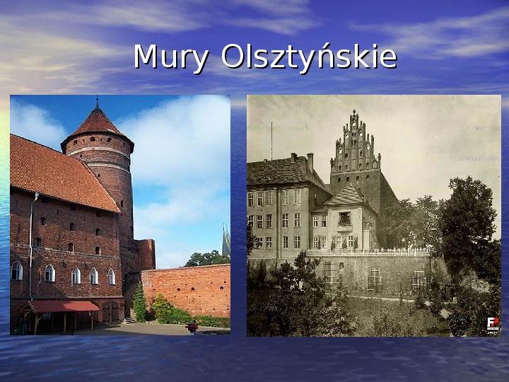 Zabytki Olsztyna - Slajd 8