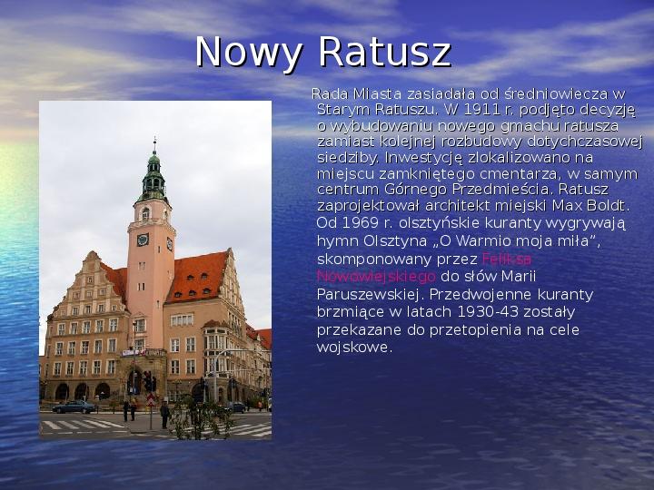 Zabytki Olsztyna - Slajd 10