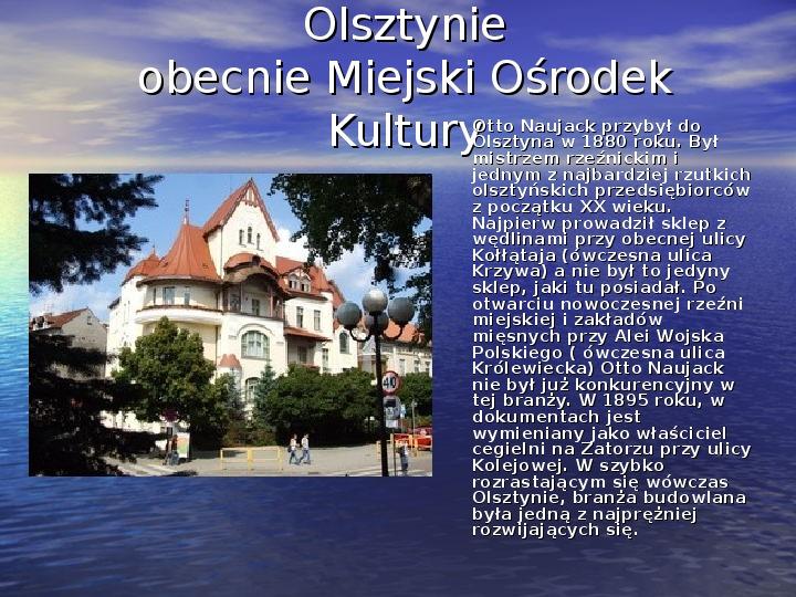 Zabytki Olsztyna - Slajd 12