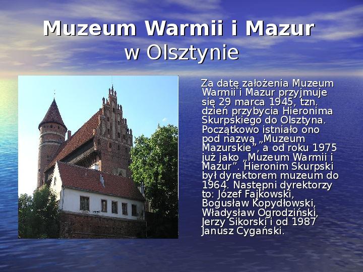 Zabytki Olsztyna - Slajd 13