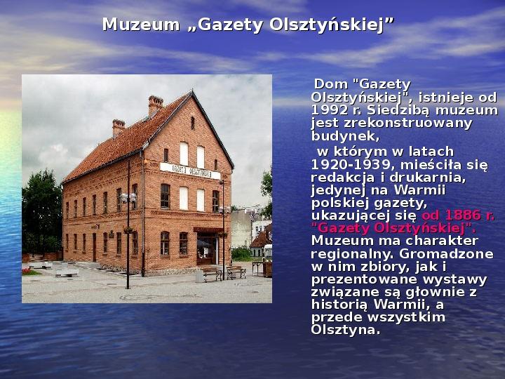 Zabytki Olsztyna - Slajd 14