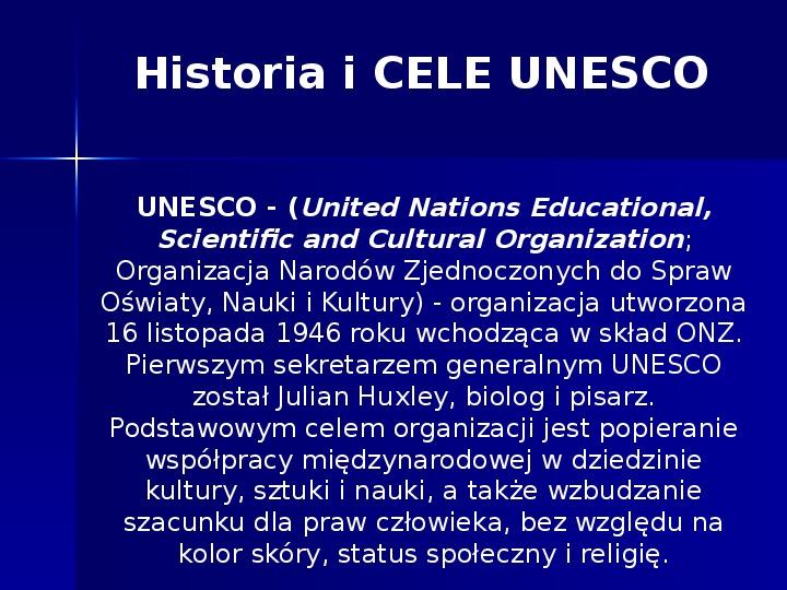 UNESCO - Slajd 1