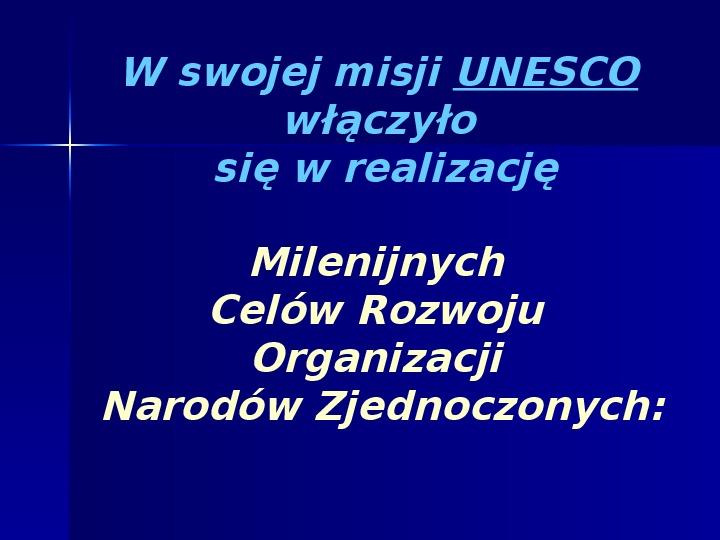 UNESCO - Slajd 2