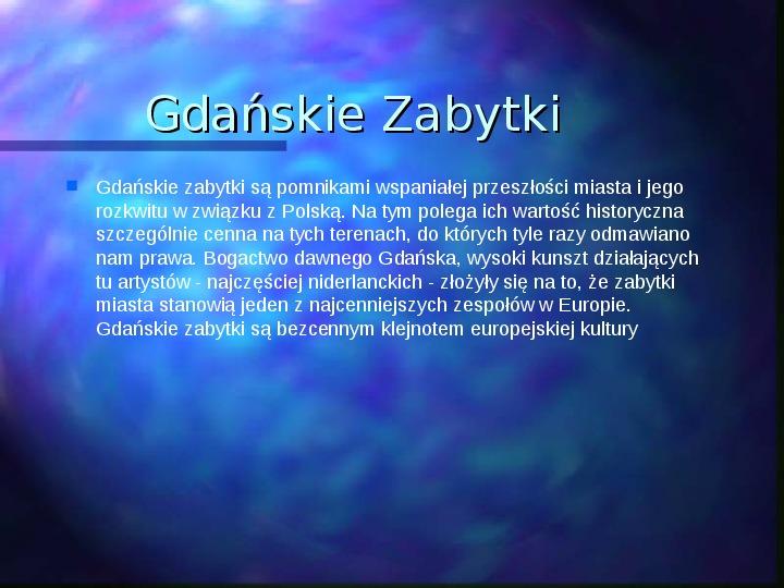 Gdańsk piękne miasto - Slajd 2