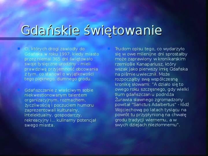 Gdańsk piękne miasto - Slajd 8